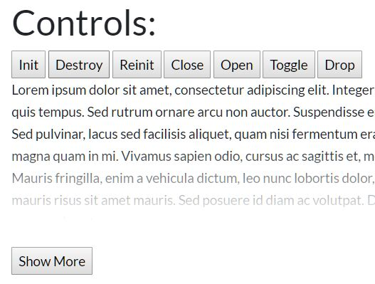 Hide/Reveal Long Text On Demand - jQuery MoreContent