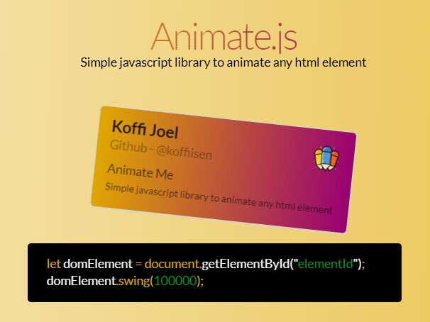 High Performance JavaScript Animation Library - Animate.js