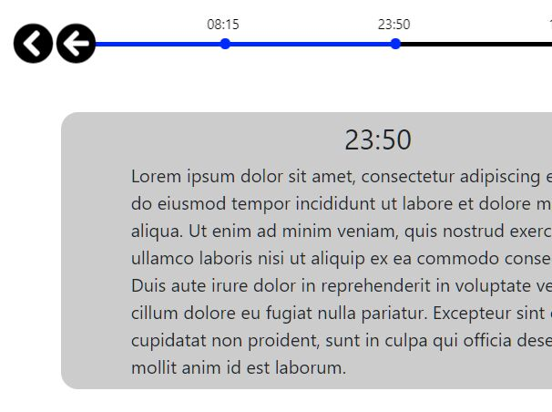 Interactive Timeline Slider In jQuery - Horizontal Timeline