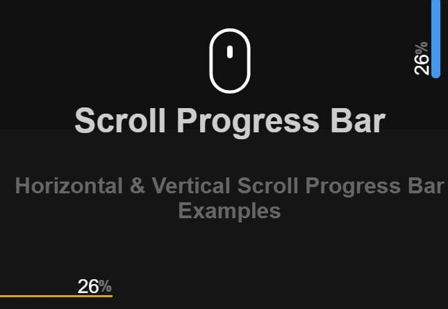 Horizontal & Vertical Scroll Progress Bars In jQuery