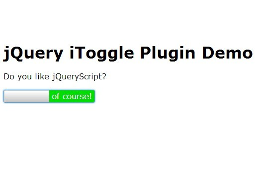 iOS Style Toggle Button Plugin with jQuery - iToggle