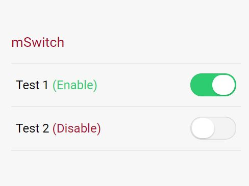 iOS Style Toggle Switch With Gooey Effect - jQuery mSwitch