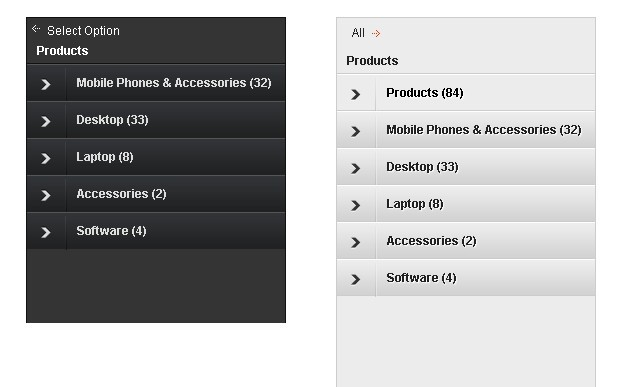 iPod Style Drill Down Menu Plugin with jQuery