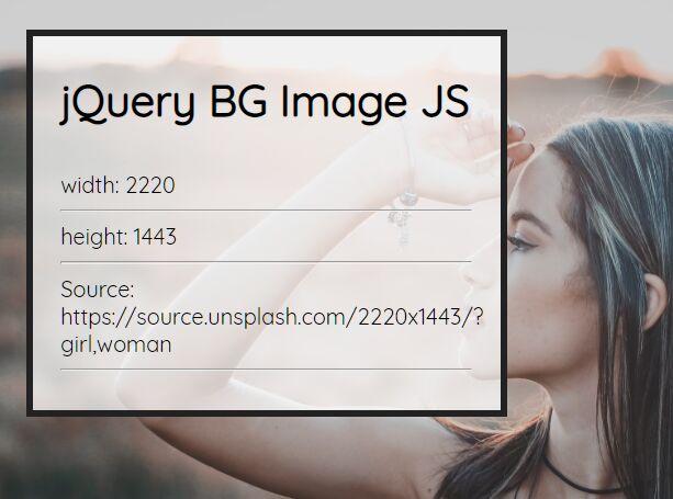Get Information About The Background Image - bg-image.js