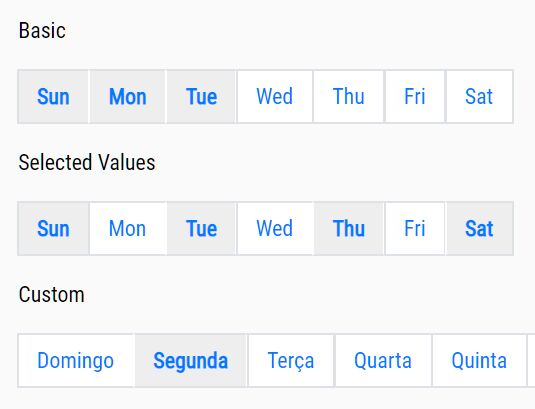 Inline Week Day Picker Plugin - jQuery weekdays