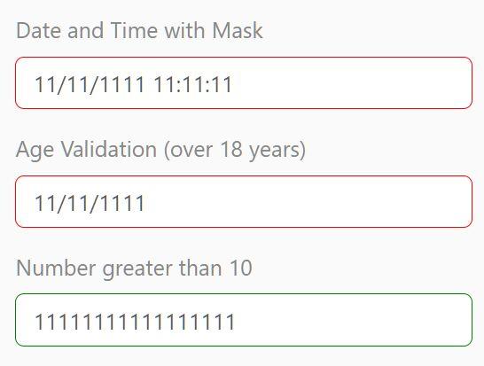 Feature-rich Input Validation & Mask Plugin - InnerFormValidation