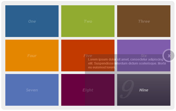 jQuery Interactive Popup Menu with CSS3