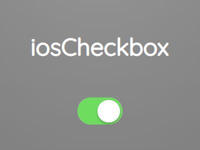 iOS Style Checkbox Replacement Plugin - jQuery iosCheckbox.js