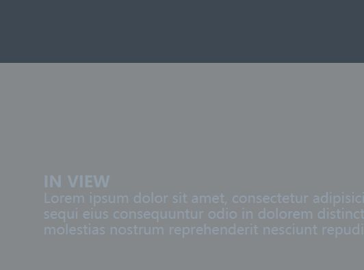 Minimalist Is In View Detect Plugin - jQuery inViewport.js