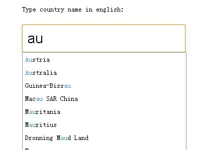 jQuery Ajax Autocomplete Plugin For Input Fields - Autocomplete