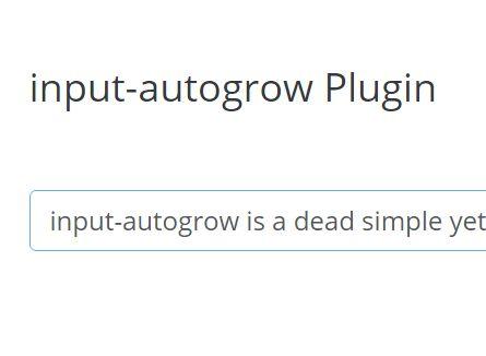 jQuery Auto Grow Plugin For Input Fields - input-autogrow