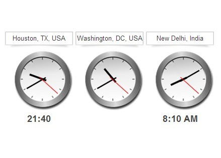 jQuery Based Analog And Digital World Clock - jClocksGMT.js