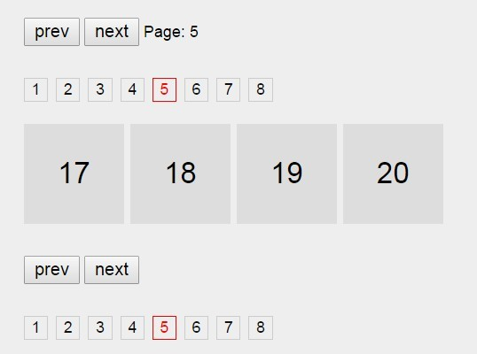 jQuery Based List Pagination with Hash Tracking