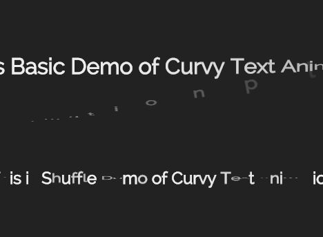 Simple jQuery Plugin For CSS3 Text Animations - Curvy Text