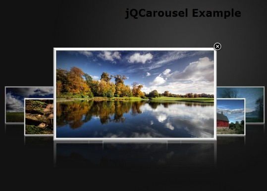 jQuery Carousel Image Gallery with Cover-flow Effect - jqcarousel