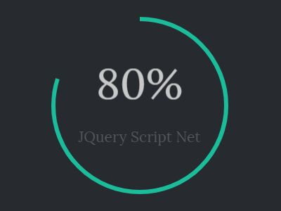 jQuery Circular Progress Bar With Text Counter | Free jQuery