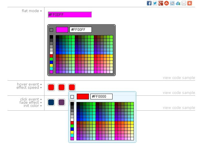 Highly Configurable Color Picker For jQuery and jQuery UI - Vanderlee ...