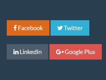 jQuery Plugin For Custom Social Share Links - Shares
