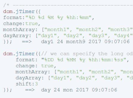 Customizable jQuery Date/Time Formatting Plugin - jTimer