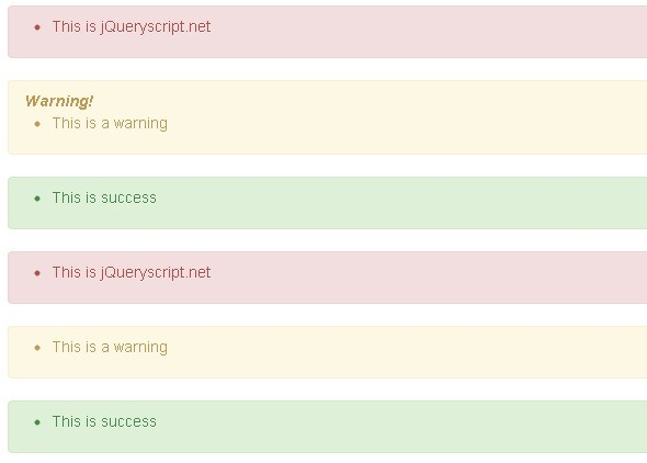 jQuery Event Based Notification Plugin For Bootstrap - BS-Alerts