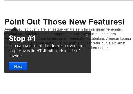 jQuery Feature Tours Plugin - Joyride