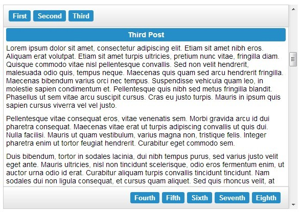 jQuery Fluid Content Scroller Plugin For One Page Navigation