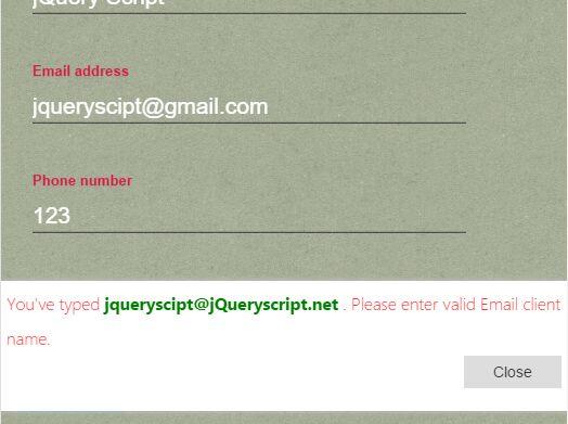 jQuery Form Auto-correct & Validation Plugin - iForm