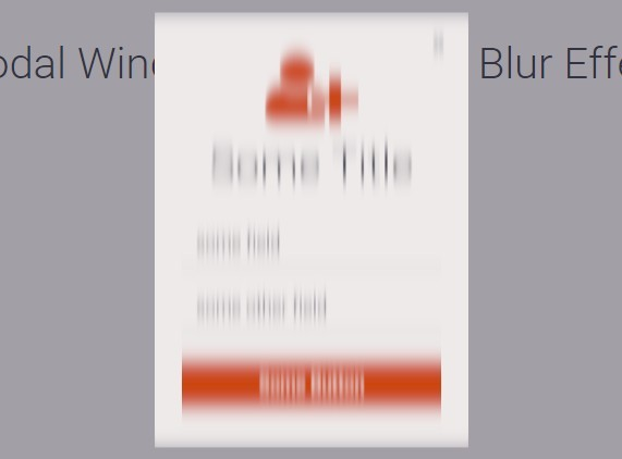 jQuery & GSAP Based Modal Window with Motion <font color='red'>blur</font> Effect