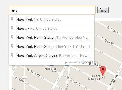 Jquery Geocoding And Places Autocomplete With Google Maps Api
