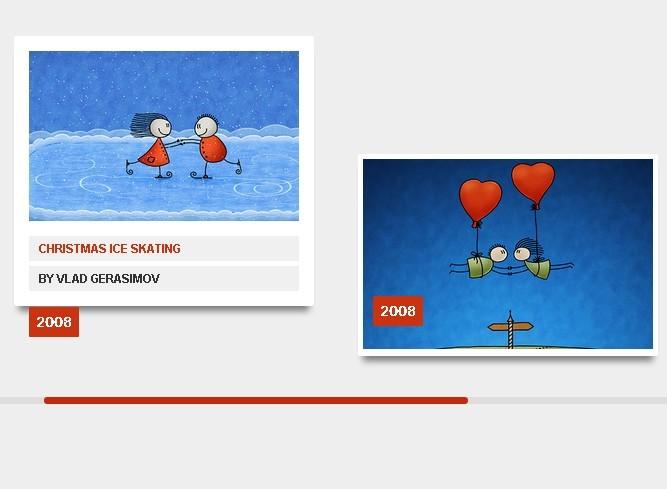 jQuery Horizontal Portfolio Layout With CSS3 Animations