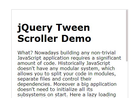 Jquery inner scrollbar plugin with smooth scrolling effect tween scroller free jquery plugins - Jquery scroll to div ...