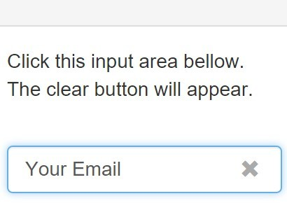 jQuery Input Clear Button Plugin For Bootstrap - Clear Button
