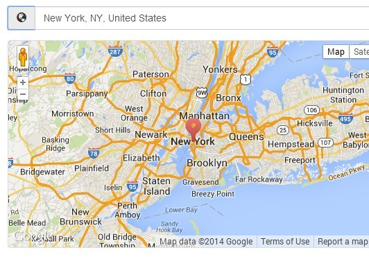JQuery Location Autocomplete With Google Maps Places Library - Jquery us map