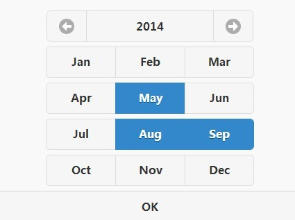 jQuery Mobile Plugin For Multiple Month Picker