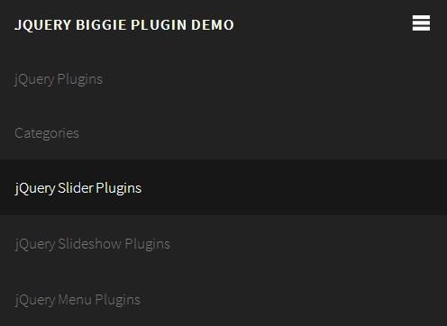 jQuery Mobile Toggle Menu With CSS3 Media Queries - Biggie