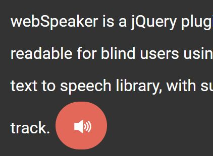 jQuery Plugin Create Readable Text Using ResponsiveVoice Library - webSpeaker