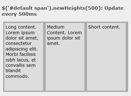 jQuery Plugin For Adjusting Element Heights On Window Resize - NewHeights