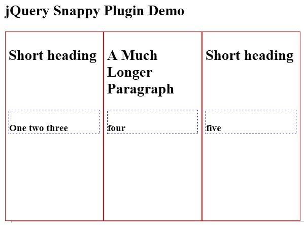 jQuery Plugin For Aligning Nearly-Aligned Elements - Snappy