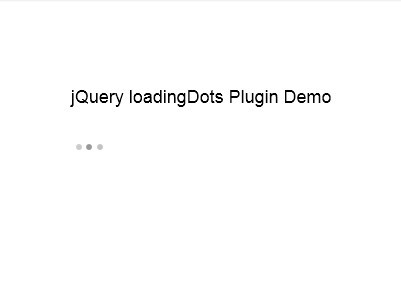jQuery Plugin For Animated Ajax Loading Dots - loadingDots