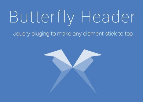 jQuery Plugin For Animated Fixed Elements - Butterfly
