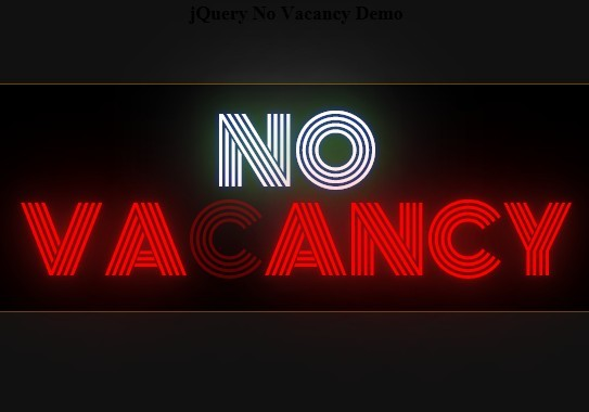 jQuery Plugin For Animated Text Neon Effect - novacancy.js