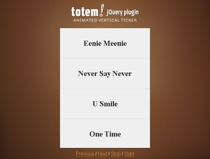 jQuery Plugin For Animated Vertical Ticker - totem