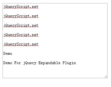 jQuery Plugin For Auto Expandable Textarea - expandable