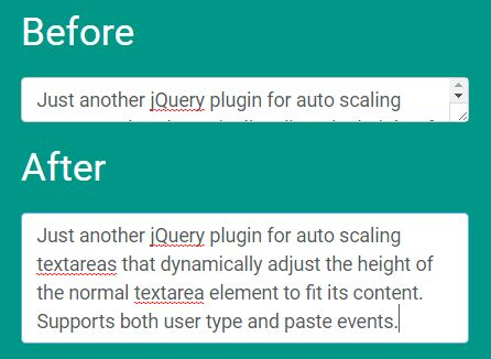 jQuery Plugin For Auto Grow Of <font color='red'><font color='red'>text</font></font>area On Typing - auto<font color='red'><font color='red'>resize</font></font>