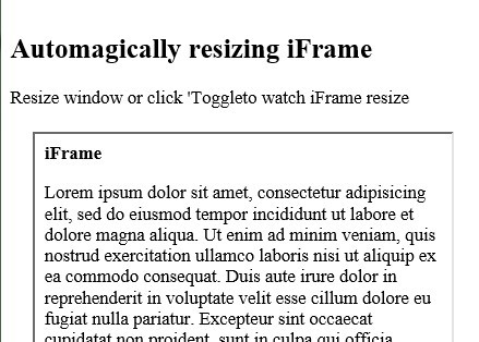 jQuery Plugin For Auto Resizing iFrame - iFrame Resizer