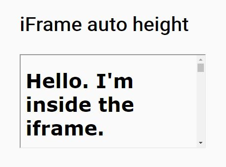 jQuery Plugin To Auto iFrame Height Adjusting - autoHeight.js