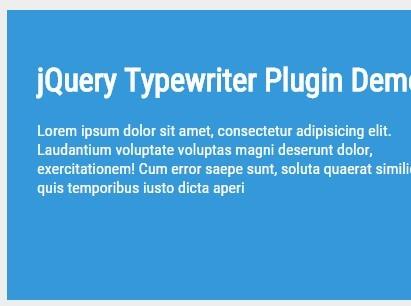jQuery Plugin For Basic Text Typewriter Effect - Typewriter