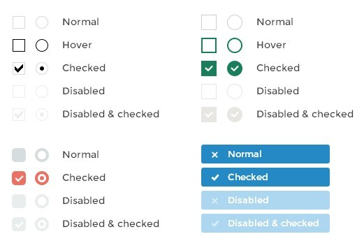 jQuery Plugin For Beautifying Checkboxes And Radio Buttons - iCheck