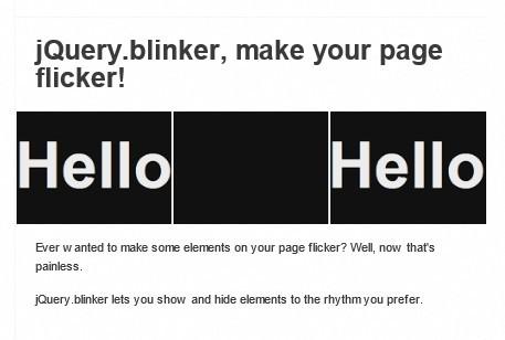 jQuery blink Plugins | jQuery Script