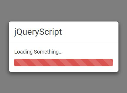 jQuery Plugin For Bootstrap Loading Modal With Progress Bar - waitingFor